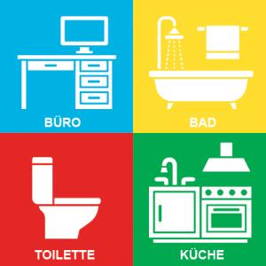 Vier-Farb-System Reinigung